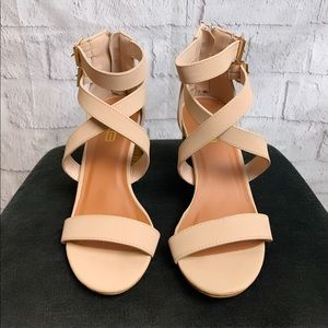 Faux Leather Boutique Block Heels